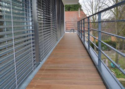Balkonbelag mit Holzdielen Ipe